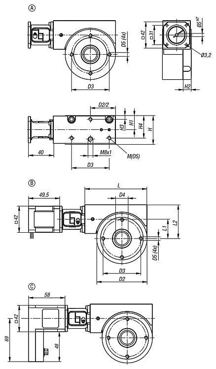 Table de positionnement circulaire à motorisation... - Système de table de positionnement motorisée