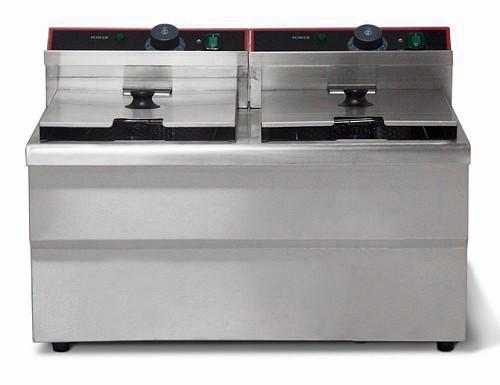 Fritteuse Elektro - Fryer 8 + 8 liters