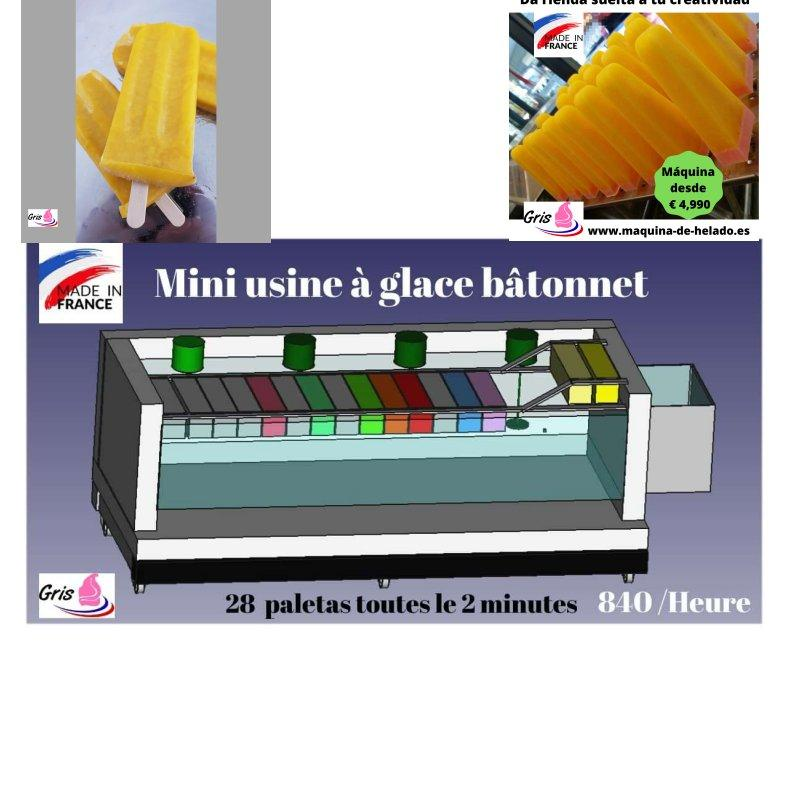 mini usine de sucette a l'eau glace batonnet polo - toutes les glaces batonnet 28 batonnets toutes de 120 secondes
