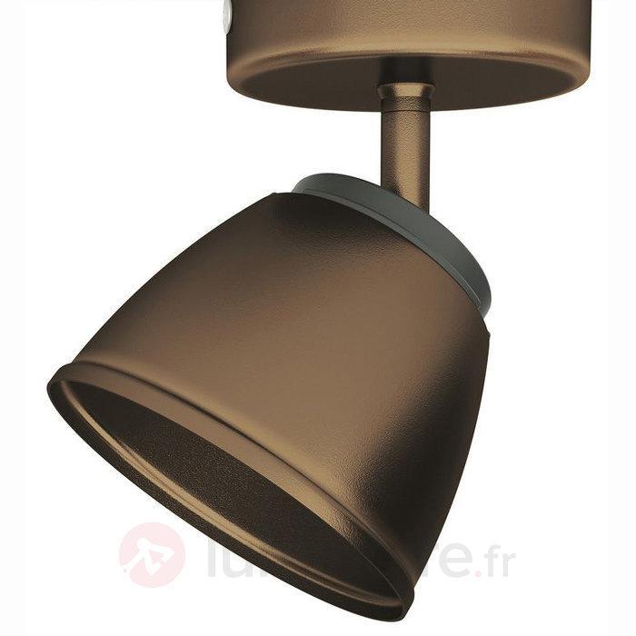 Spot LED County, couleur bronze - Spots et projecteurs LED