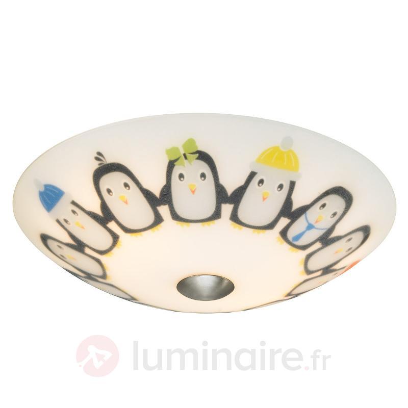 Plafonnier Tipsy p. chambre d'enfant, pingouins - Chambre d'enfant