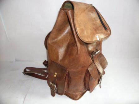 Leather Backpack - Retro Look Backpack