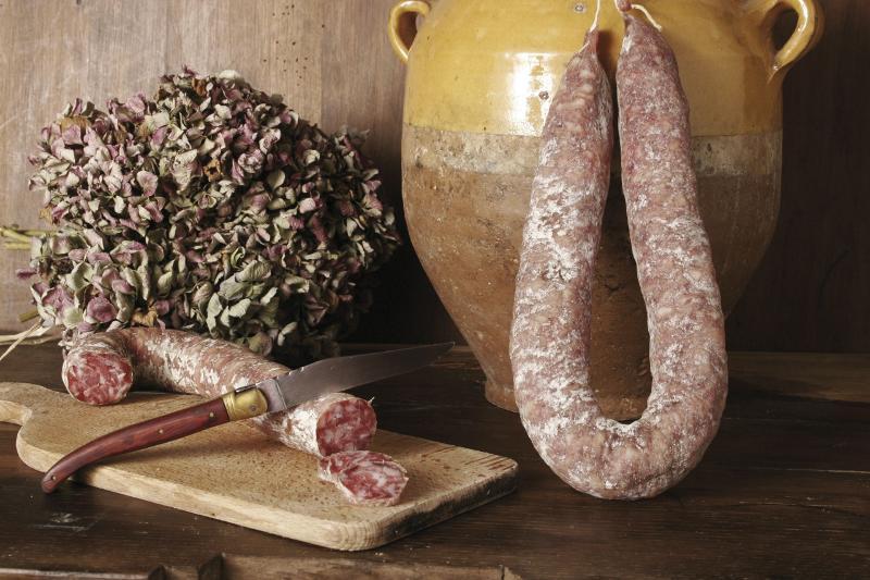 Tranches saucisse sèche pur porc - Viande et volailles