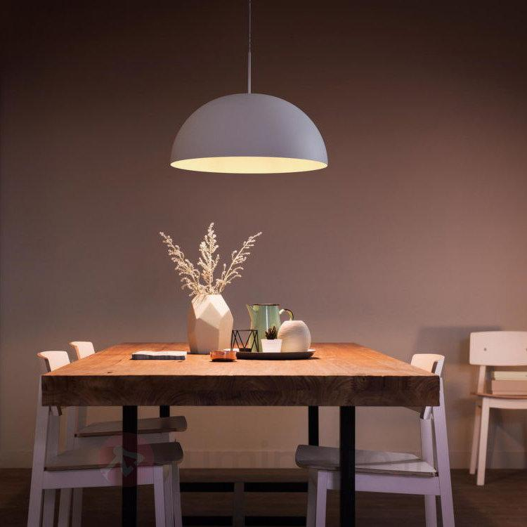 Suspension en métal blanc Rye avec LED - Suspensions LED