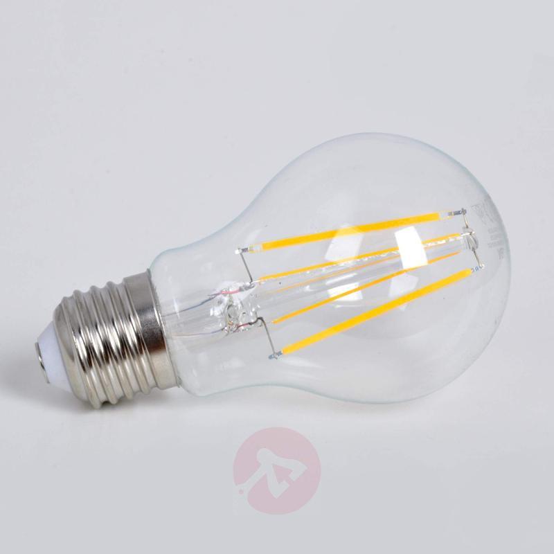 E27 6.2 W 827 filament LED lamp, clear - light-bulbs
