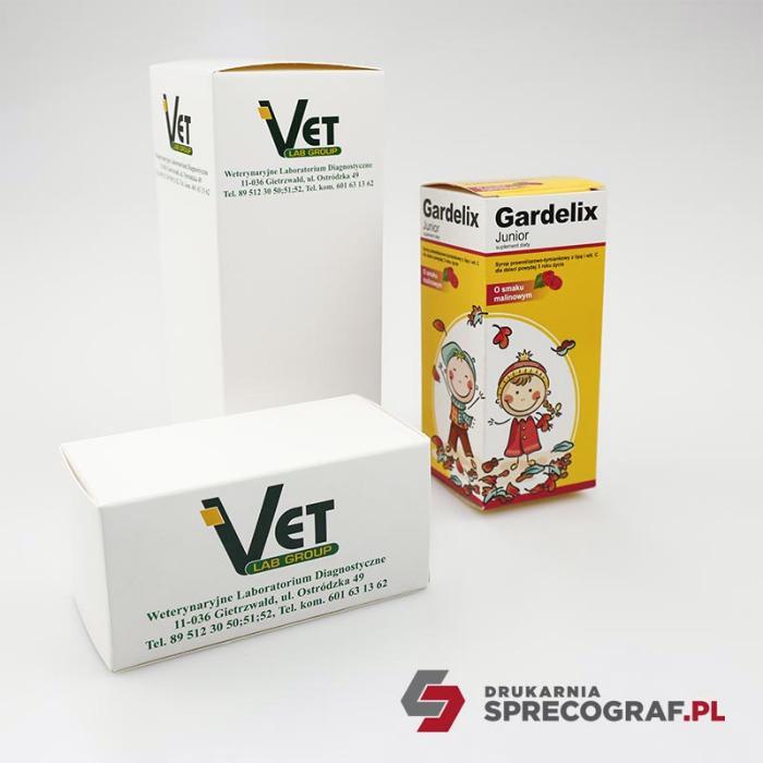 Lääkepakkaukset  - Paperilaatikot räätälöityjä tuotteita varten