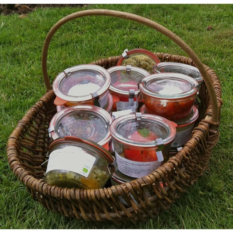 WECK® STORT Glazen - 6 glazen in glas Weck Recht 370 ml met deksels in glas en verbindingsstukken
