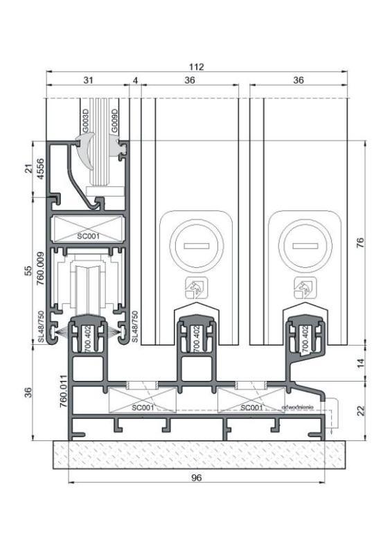 sliding-systems ponzio sliding-600 - aluminium-joinery