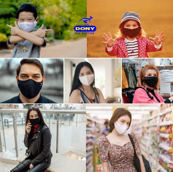 Fabric face mask: sterilized, specialized, CE-FDA-TUV Reach - Fashion comfortable Mask: Breathable-High Air Permeability, ergonomic breathing