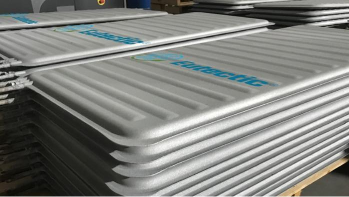 Eutectic plates with thermal zinc coated - Eutectic Plates dimensions and specifications