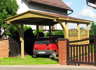 Abri voiture en bois traité - Autoclave
