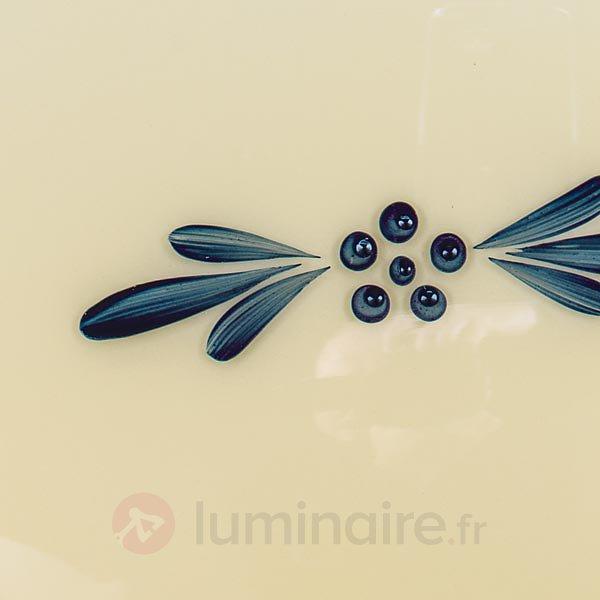 Plafonnier Nilay à abat-jour décoré - Plafonniers en verre