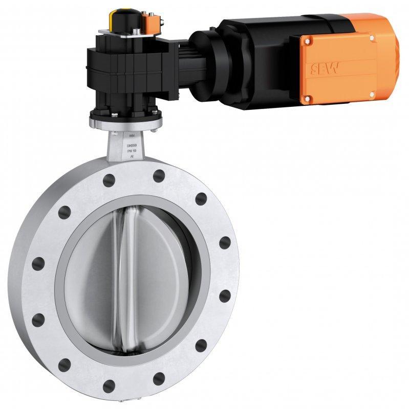 Válvula de aletas tipo FS-M - Válvula de aletas para cortar o regular el flujo de material a granel.