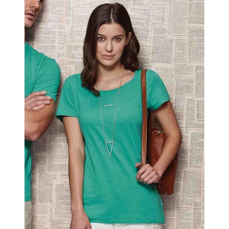 Tee-shirt femme ras de cou Sharon - Manches courtes