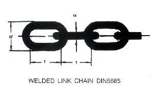 Welded Link Chain - Welded Link Chain Din5685