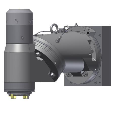 MILLING HEADS - Two-axis universal milling head/manual KFU-2/45