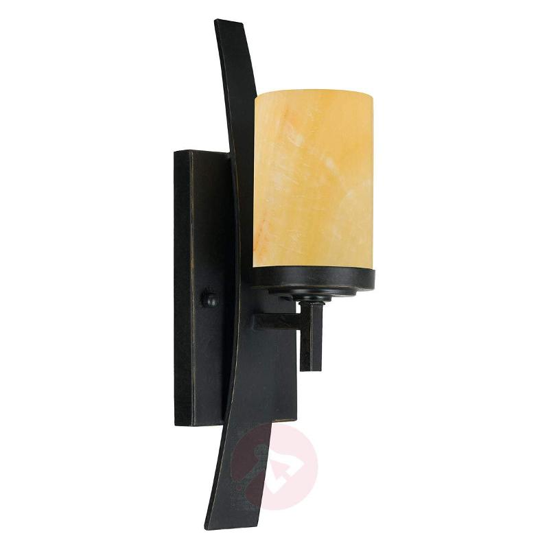 Wall lamp Kyle with onyx lampshade - Wall Lights