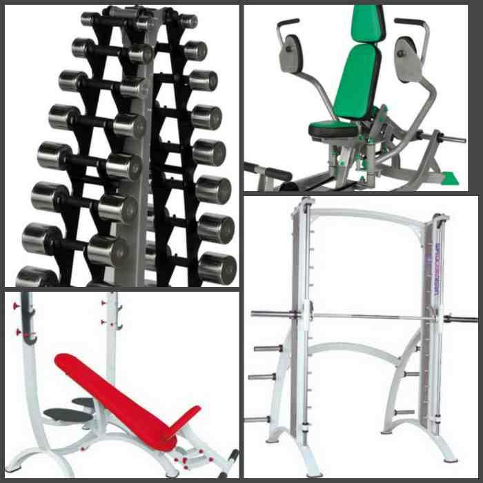 Training machines - Professional sports equipment of different available colors