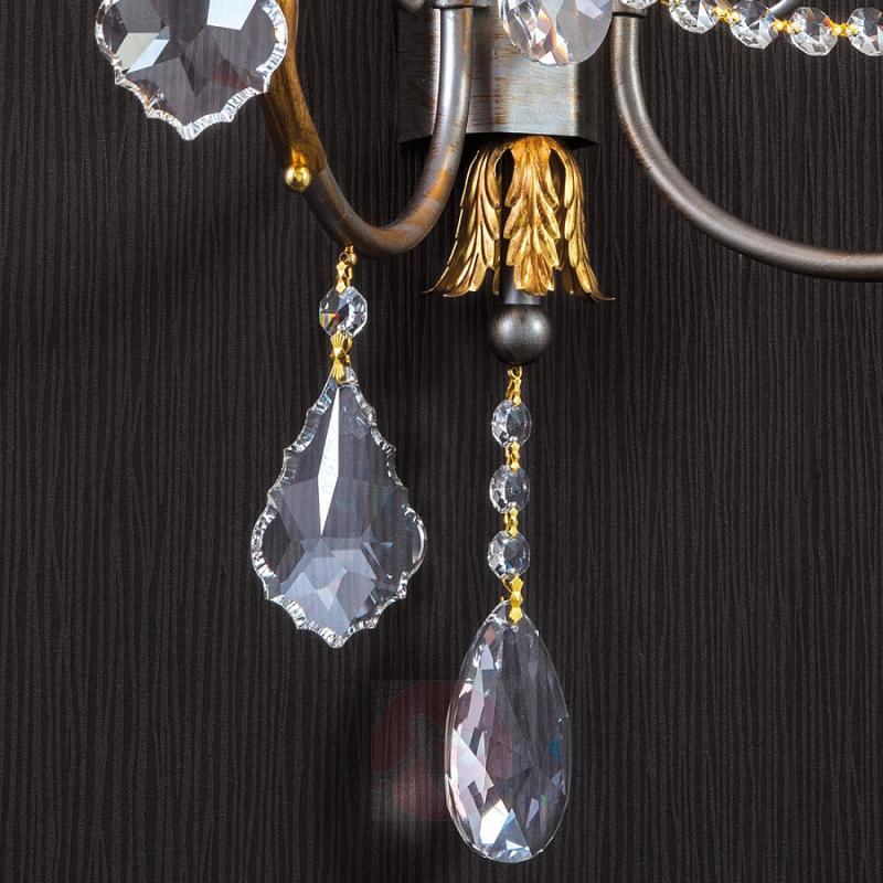 Noble wall lamp Miramare with lead crystals - design-hotel-lighting