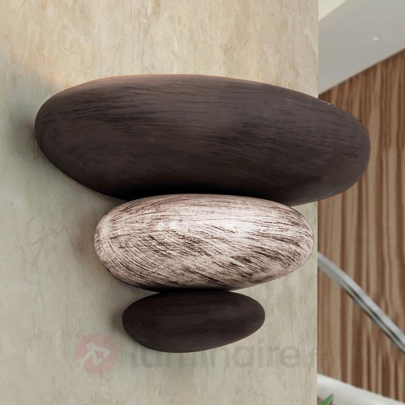 Imitation pierre : l'applique LITICA beige-brun - Toutes les appliques