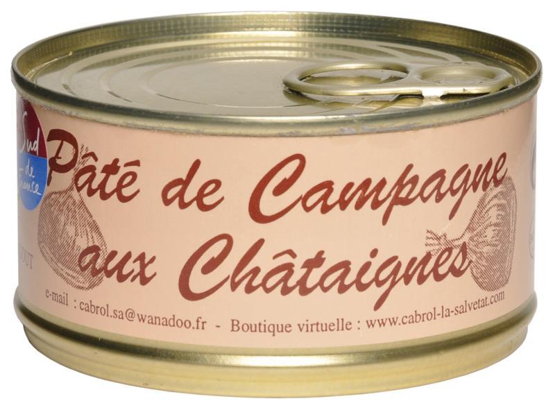 Pâté de Campagne aux Châtaignes (conserve) - Epicerie salée