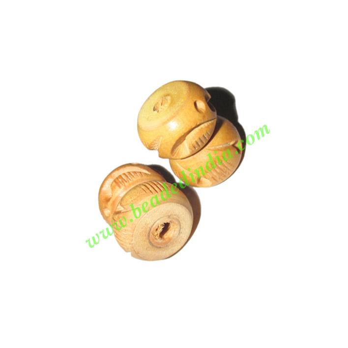 Natural Color Wooden Beads, size 15x19mm, weight approx 1.75 - Natural Color Wooden Beads, size 15x19mm, weight approx 1.75 grams