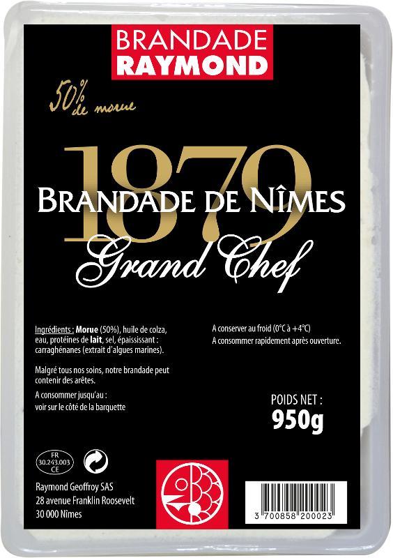 Brandade de Nîmes Grand Chef 50% de morue barquette 950g - Produits de la mer
