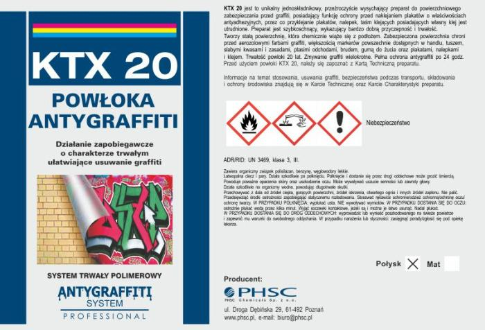 KTX 20 Powłoka Antygraffiti -