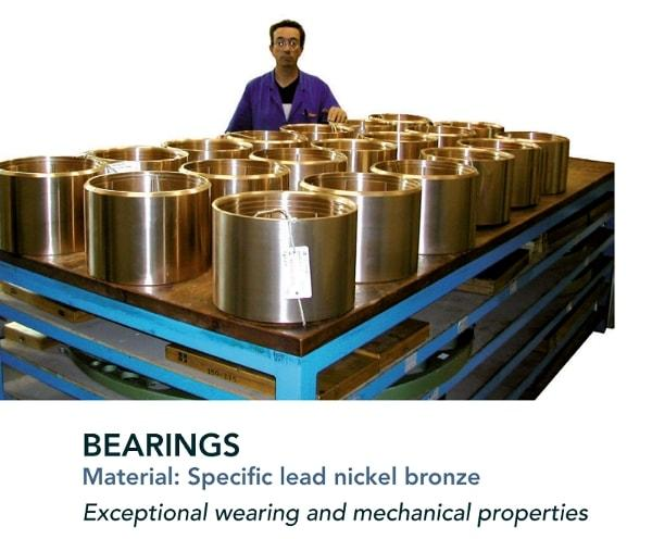 Bearing - Turbines - components for hydraulic turbines