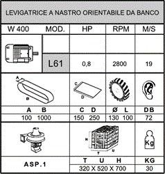 Levigatrice a Nastro Orientabile da Banco - L61 - null