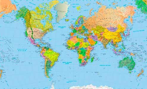 Παγκόσμιοι χάρτες - Χάρτες τοίχου παγκόσμιοι