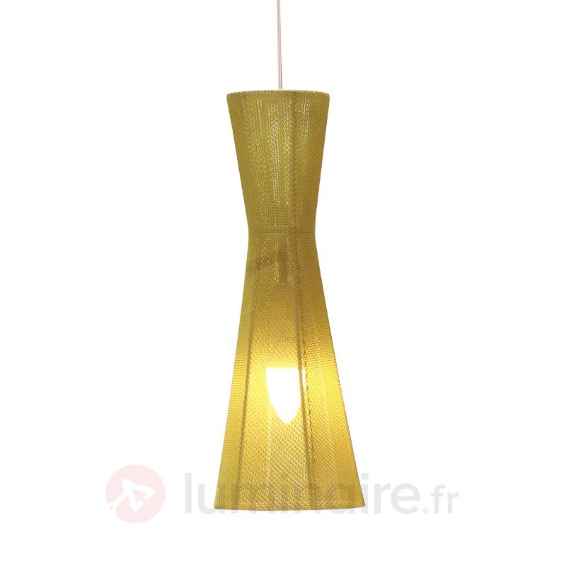 Belle suspension LED Felice, 40 cm, verte - Suspensions en tissu