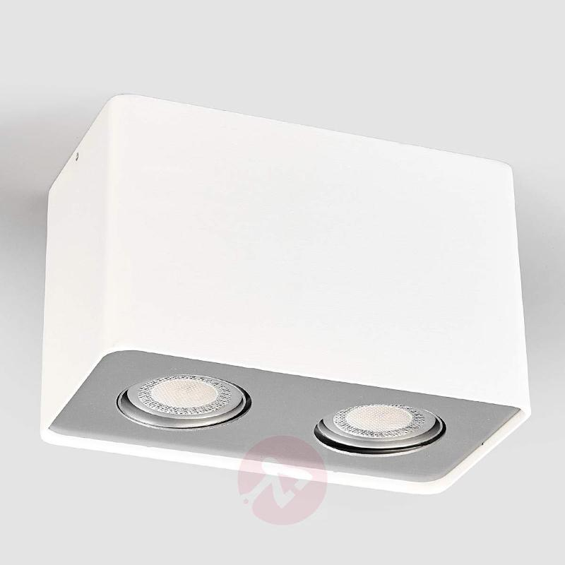 2-bulb Giliano GU10 LED downlight in white - Ceiling Lights