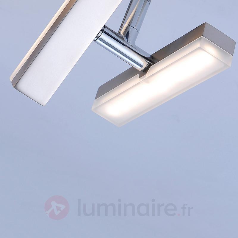 Plafonnier LED flexible Rico, à douze lampes - Plafonniers LED
