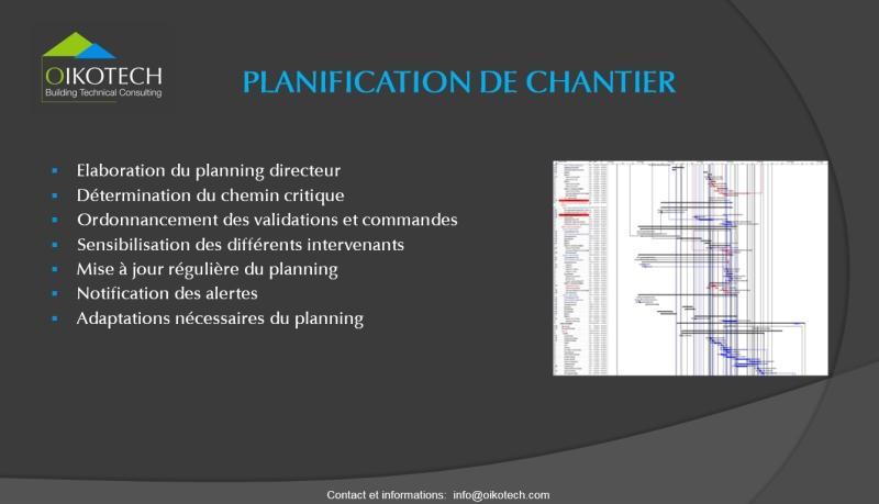 Planification chantier