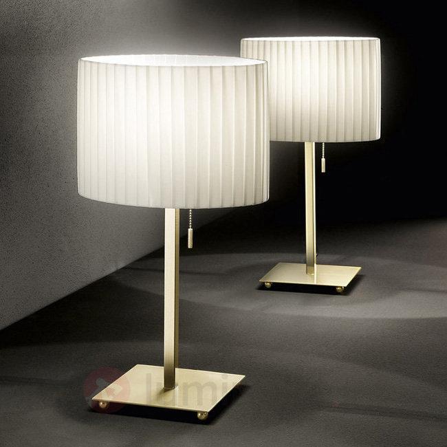 Lampe à poser Sand classique avec abat-jour plissé - Lampes à poser en tissu