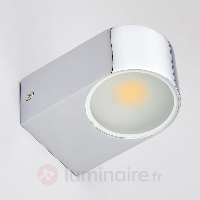 Applique pour miroir LED Marielle chrome - Appliques LED