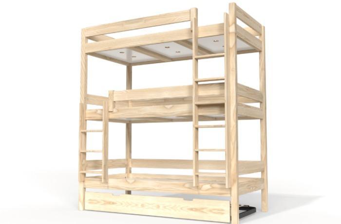Lit superposé ABC - 3 et 4 places en bois
