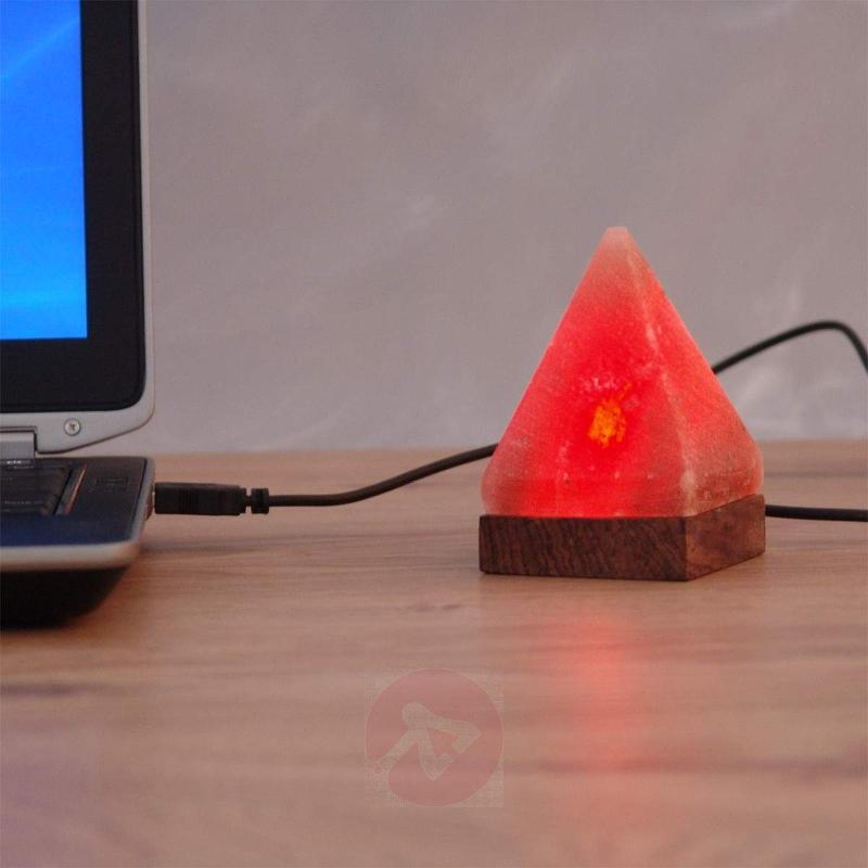 Pyramid small USB table lamp for computer - null