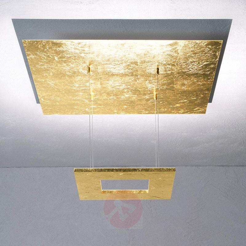 Gold leaf pendant lamp Zen with LED - Pendant Lighting