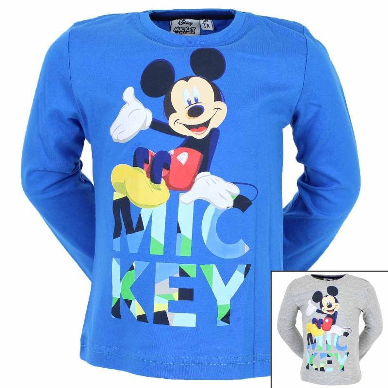 Importateur de T-shirt manches longues Mickey du 2 au 8 ans - T-shirt et Polo manches longues