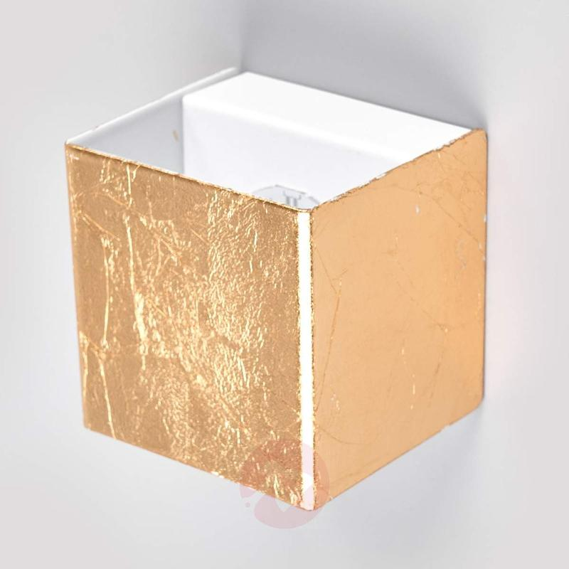 Quentin - gold-coloured LED wall light - Wall Lights