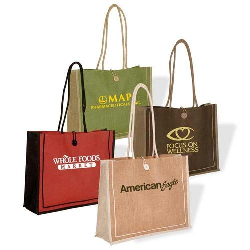 Eco-Friendly Reusable Large Natural Grocery Tote Jute Bags