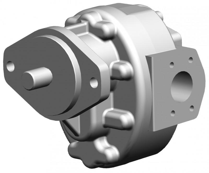 High Pressure Gear Motors KM 5 - with hydraulic axial clearance compensation