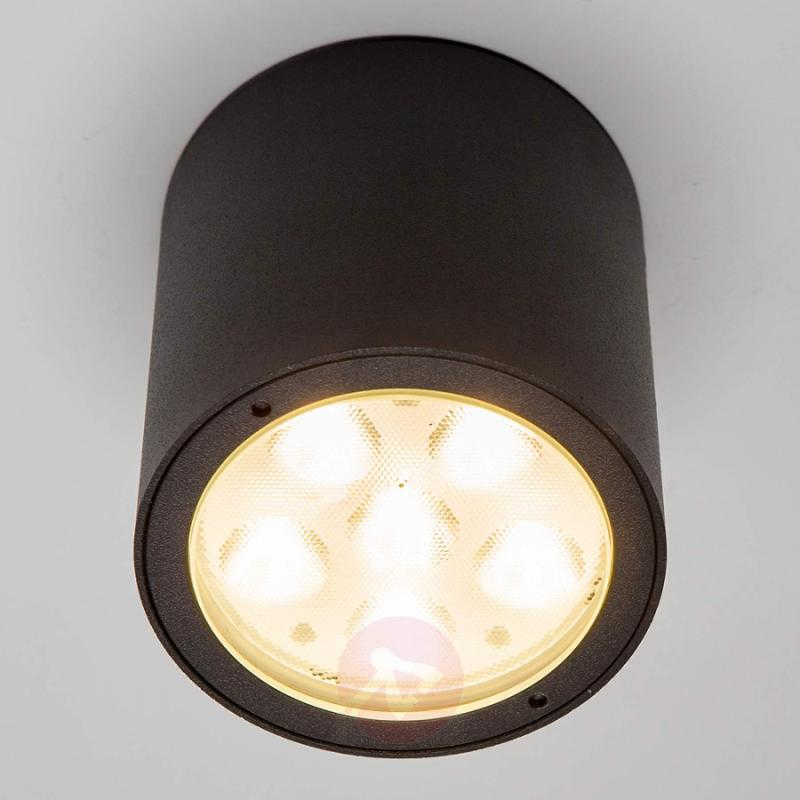 Round LED outdoor ceiling spotlight Meret, IP54 - outdoor-led-lights