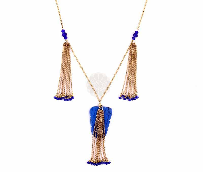 Blue and Golden Pendant -