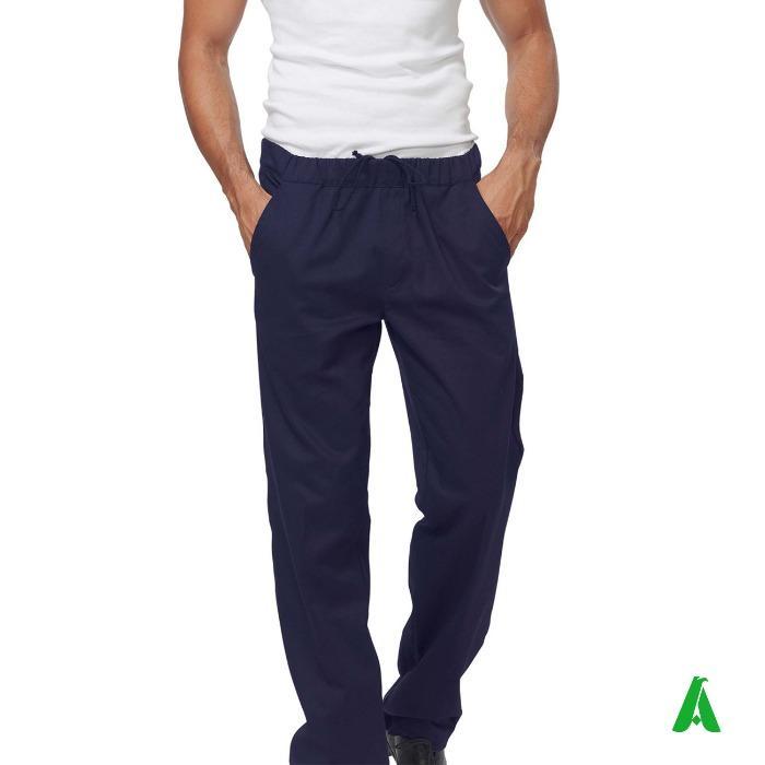 Pantaloni da cucina con tasca dietro - Pantaloni da chef con elastico