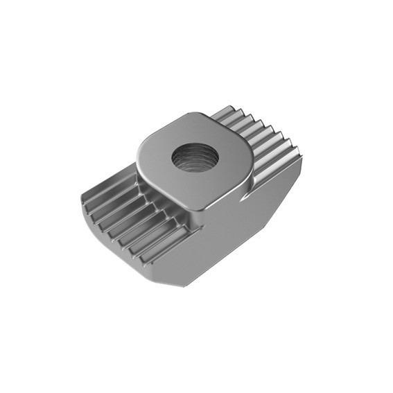 Hammer head screw and hammer nut - To fasten components to profiles; slot 6 - 8 - 10; steel and stainless steel