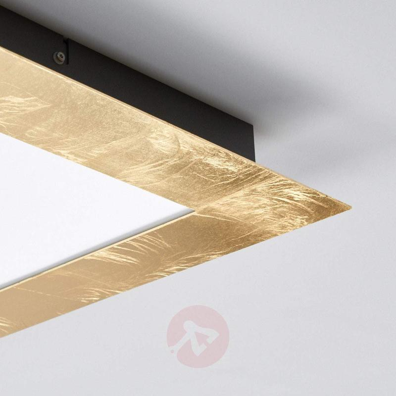 Rectangular LED ceiling light Deno in gold - Ceiling Lights