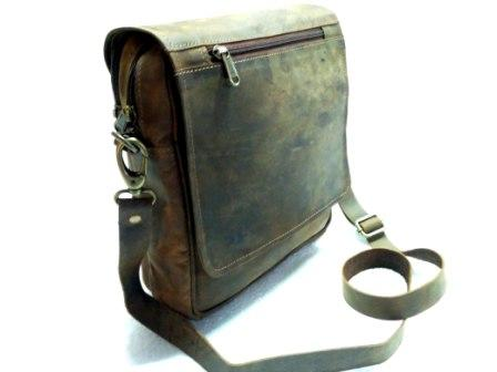 Leather Sling Bag - Leather sling bag with full flap